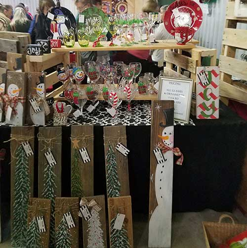 Wonderful Day at the Coastal Carolina Christmas Arts Crafts and Gifts Show Audra Styles Booth