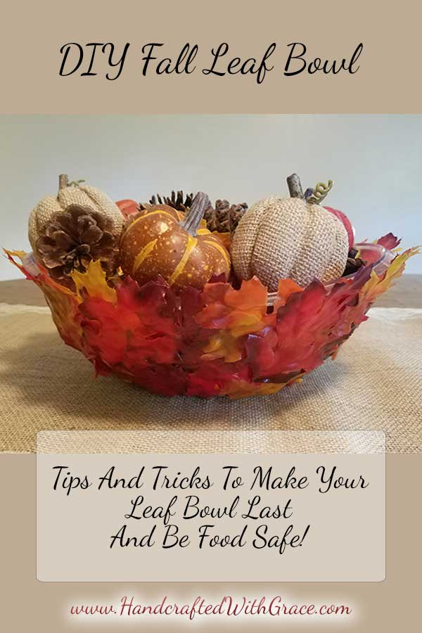 Diy fall leaf bowl handcrafted with grace for Fall cooking tips