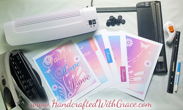 DIY Disc Bound Scripture Study and Prayer Journal with FREE 14 page PDF by www.HandcraftedWithGrace.com