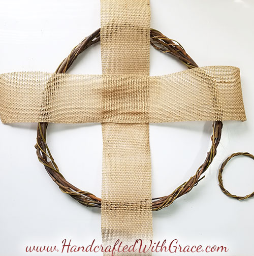 Spring Easter Cross Wreath Tutorial by HandcraftedWithGrace.com